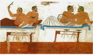 Un banchetto nell'antica Paestum