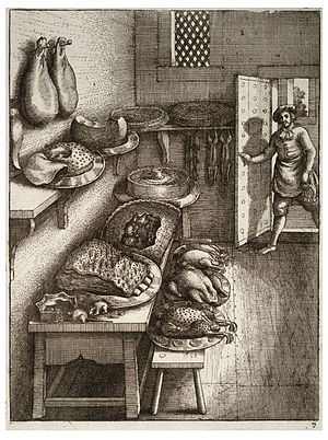 Wenceslas Hollar - Town and country mouse 2