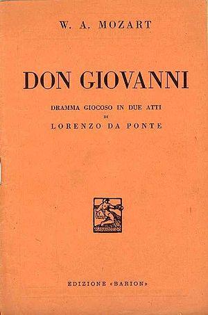 """Italiano: Copertina libretto """"Don Giovann..."""
