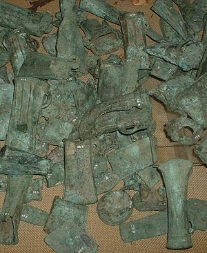 Assorted celtic bronze castings dating from th...