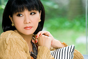 English: One of famous female singer of South ...