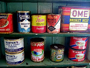 Canned food - Port Lockoy, Antarctica