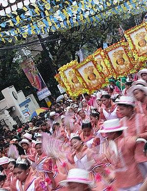 A procession like this of the Senor Sto. Nino ...