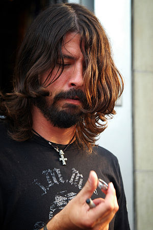 David Grohl, lead singer of the Foo Fighters, ...