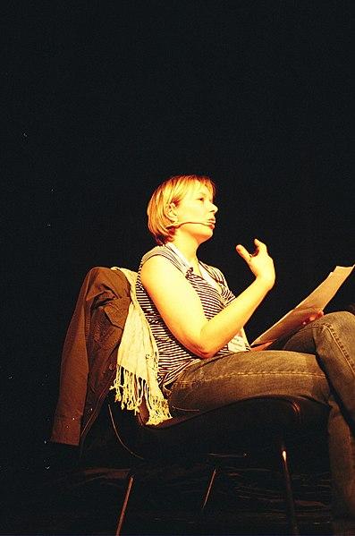 Litteraturvetaren Merja Polvinen på Swecon 2011.