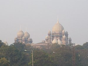 A view of High Court from Naya Pul bridge on t...