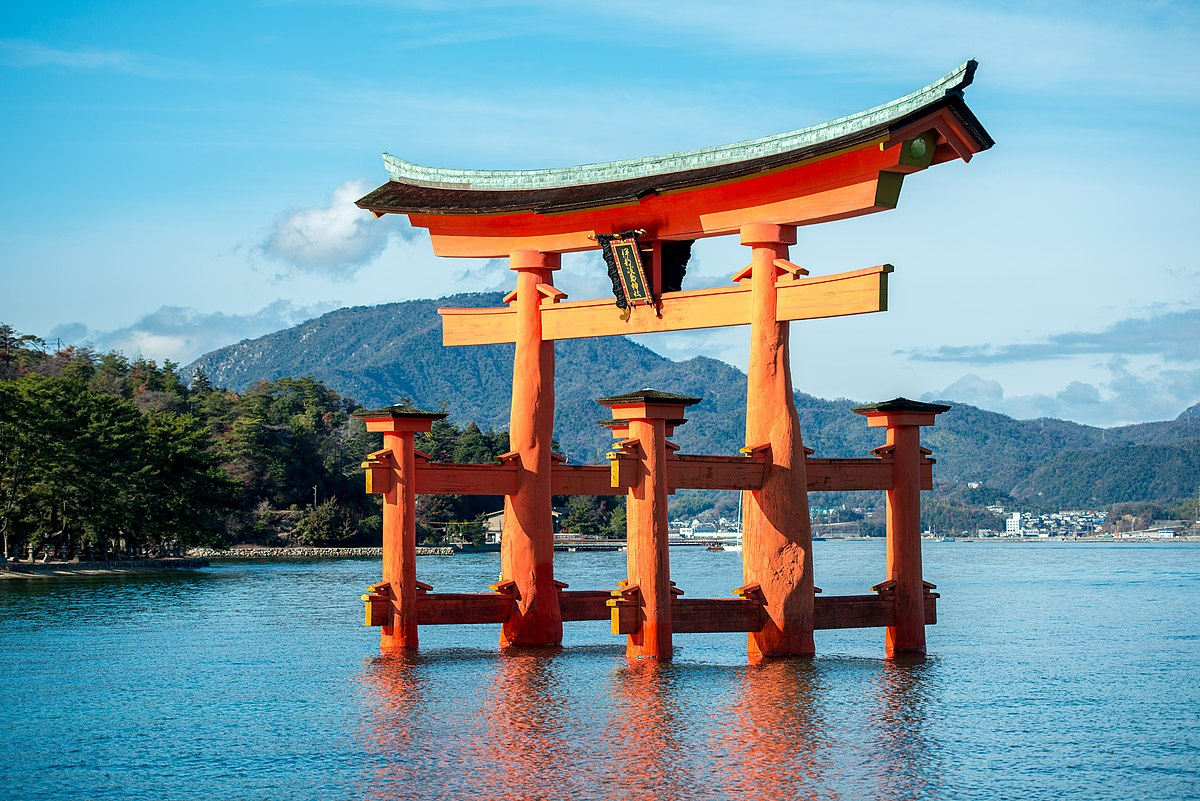 Image result for Itsukushima Shrine in Hatsukaichi, Japan