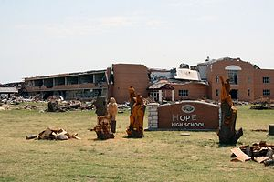 English: Joplin High School following 2011 tornado