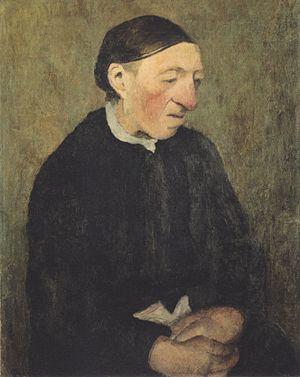 Modersohn-Becker - Alte Frau mit Taschentuch