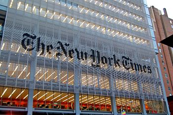 English: The New York Times building in New Yo...