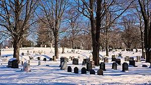 Old Burying Ground in Hingham, Massachusetts.