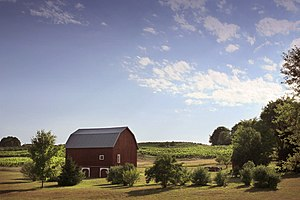 A pastoral farm scene near Traverse City, Mich...