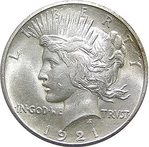 The Peace silver dollar