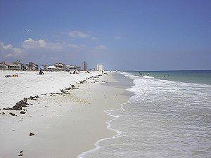 """Pensacola Beach, part of the """"Emerald Coa..."""