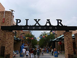 Picture of the entrance to Pixar Place, at Dis...