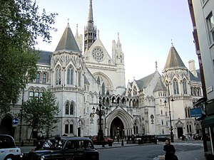 The neo-medieval pile of the Royal Courts of J...