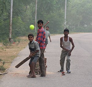 cricket in the street...