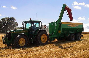 Agriculture production, pictured is a tractor ...