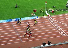 track and field diagram winnebago wiring diagrams wikipedia the 100 m final at 2008 summer olympics major global