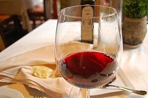 A glass of Cabernet Franc from Barboursville V...