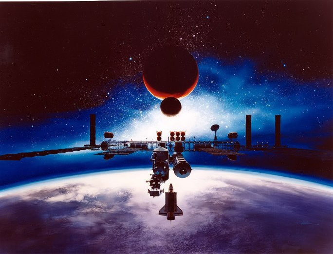 Artist's Conception of Space Station Freedom - GPN-2003-00092