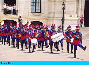 Changing the guard, Lima, Peru