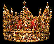 The crown of King Christian IV of Denmark, currently located in Rosenborg Castle, Copenhagen.