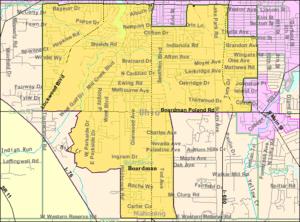 Map of Boardman, a (CDP) in Boardman Township,...