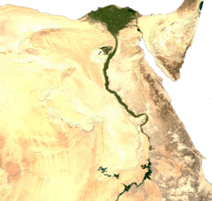 Satellite image of Egypt, generated from raste...