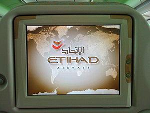 A PTV onboard a flight to Abu Dhabi.