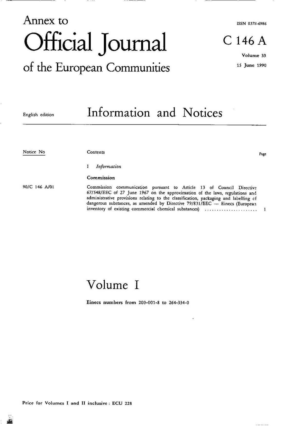 European Community Number