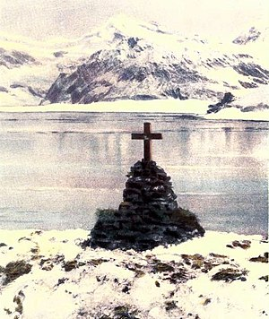 The cairn that was erected in memory of Sir Er...