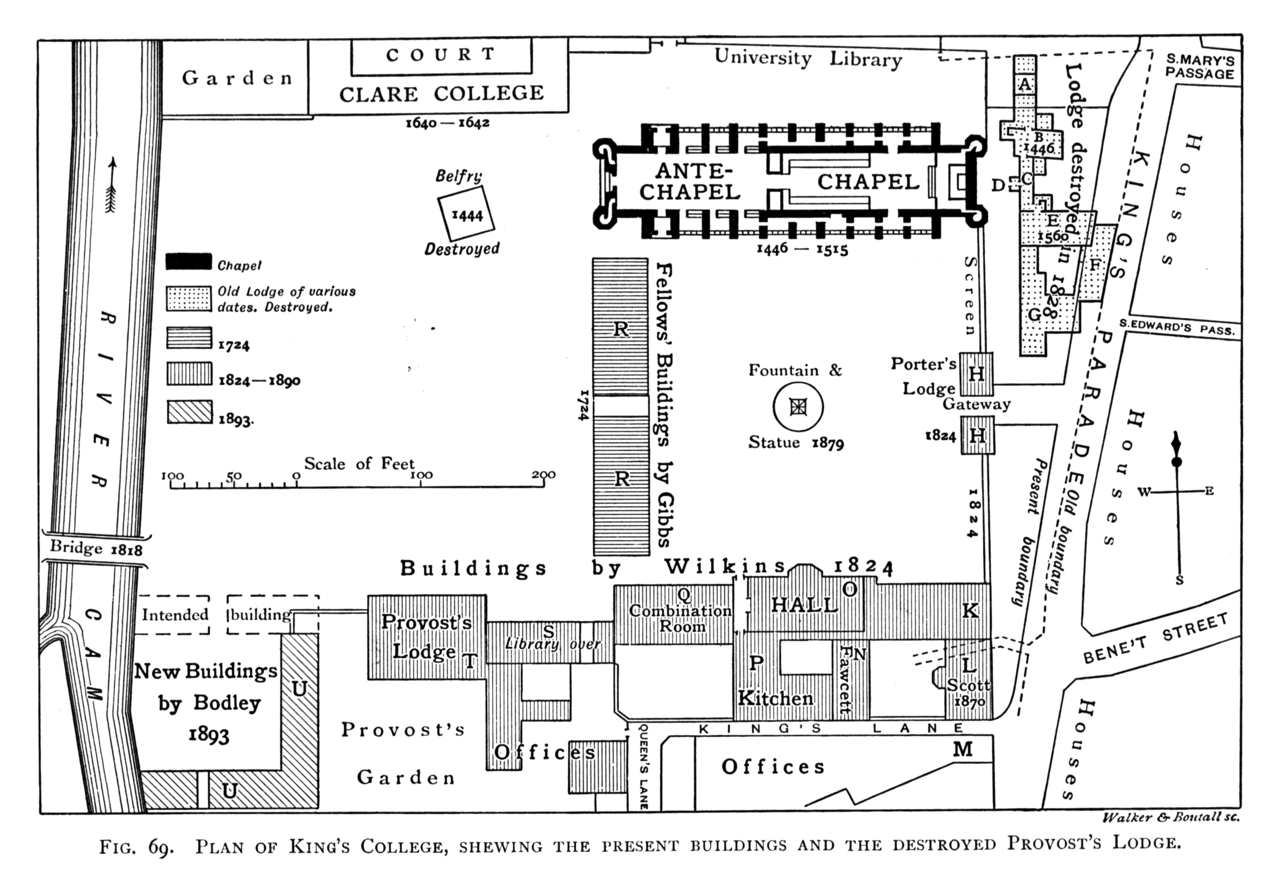 File:Historical plan of King's College, Cambridge (1897