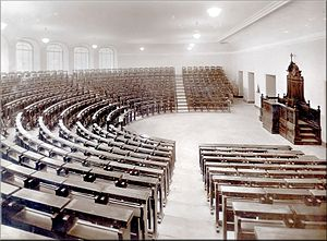 Pontificia Università Gregoriana in Roma. Aula...