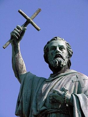 English: Statue of Saint Peter the Hermit (Sai...
