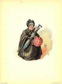 Sairey Gamp 1889 Dickens Martin Chuzzlewit character by Kyd (Joseph Clayton Clarke)