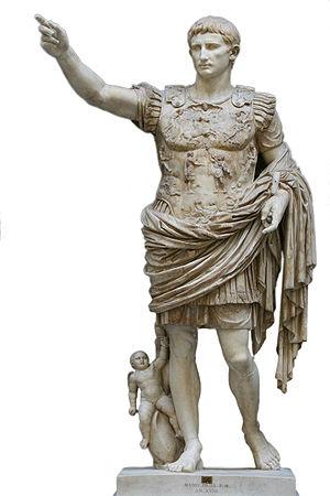 Augustus of Prima Porta, statue of the emperor...