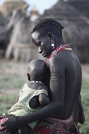 Toposa mother and child in South Sudan