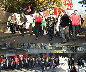 A march and rally organised by the UEA student...