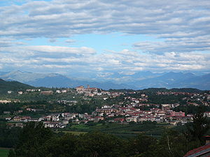 General view of Villanova Mondovì (province of...