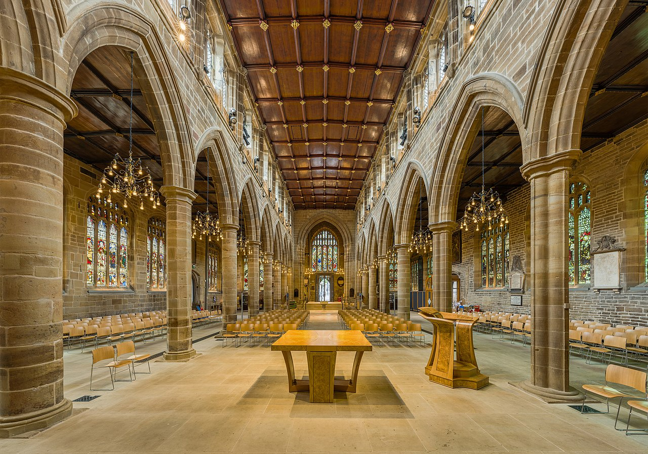 FileWakefield Cathedral Nave 2 West Yorkshire UK
