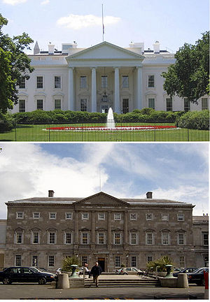 A comparison of the North Portico of the White...