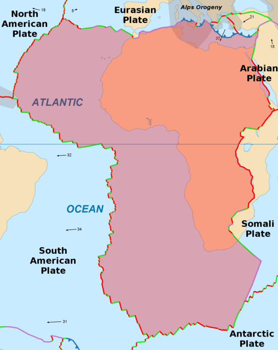 Lempeng Antartika : lempeng, antartika, Lempeng, Afrika, Wikiwand