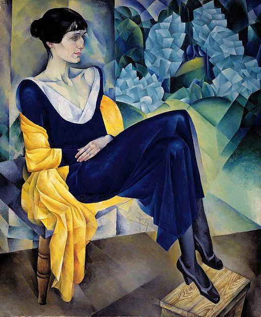 """""""Portrait of Anna Akhmatova"""" by Nathan Altman"""