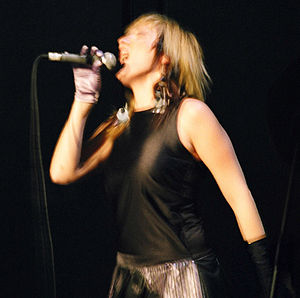 English: Dioni at a concert in New York City.