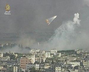 Gaza shelled by Israeli in the Israeli assault...
