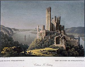 English: Ruine Stolzenfels