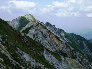 English: The view of the highest peak of Mount...