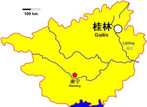Lijiang near Guilin in Guangxi