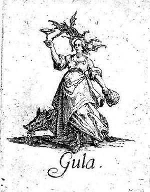 Jacques Callot, The Seven Deadly Sins - Gluttony